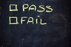 Passagem ou falha? Fotos de Stock