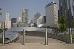 Passagem pública de BP no parque do milênio, Chicago, IL, EUA foto de stock