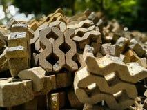 Passagem pavimentada tijolo Fotografia de Stock Royalty Free
