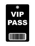 Passagem preta do VIP Fotografia de Stock Royalty Free