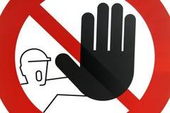 Passagem proibida PARADA do sinal de estrada Imagens de Stock Royalty Free