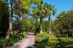 Passagem quieta no jardim tropical Imagem de Stock Royalty Free