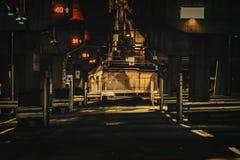 Passagem subterrânea nas luzes fotografia de stock royalty free