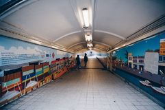 Passagem subterrânea singapore Fotografia de Stock Royalty Free