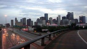 Passagem superior alta Houston Texas Transportaion Infrastructure filme