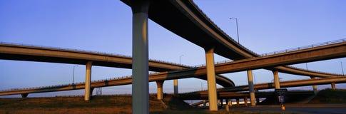 Passagem superior da autoestrada em Los Angeles, CA Fotos de Stock