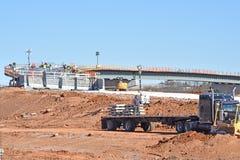 Passagem superior da estrada nacional sob a construção em I-85 imagens de stock royalty free