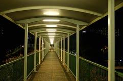 Passagem superior verde do passeio para o pedestre Fotografia de Stock Royalty Free