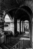 Passagem velha em Gubbio, Itália Fotos de Stock Royalty Free
