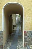 Passagens cobertas, sopra Ascona de Ronco, Ticino, Suíça Imagem de Stock Royalty Free