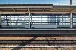 Passager à la station d'Hiroshima Photographie stock