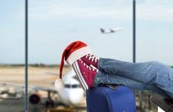 Passager adolescent à l'aéroport Image libre de droits