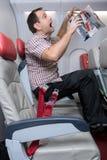 Passager d'accidents qui ne doit pas attacher au siège Photo stock