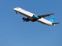 Passager d'Airbus A321-231 Photos stock