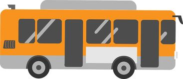 Passager d'autobus de vecteur sur le fond blanc illustration libre de droits