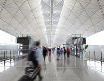 Passager dans l'aéroport images libres de droits
