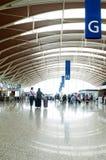 Passager dans l'aéroport de Changhaï Pudong Photo libre de droits