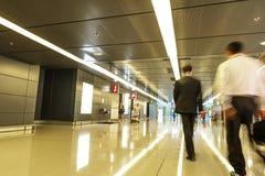 Passager dans l'aéroport de Hong Kong en Chine Photo libre de droits