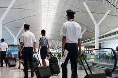 Passager dans le pudong airport Photo stock