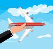 Passager ou jet commercial disponible illustration libre de droits
