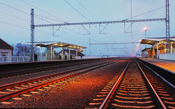Passager train station Stock Images
