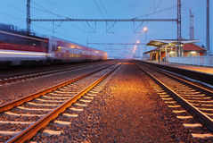 Passager train station Royalty Free Stock Photo