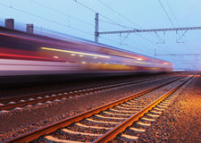 Passager train station Royalty Free Stock Image