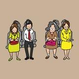 passagerare vektor illustrationer