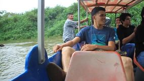 Passagerare av ett fartyg lager videofilmer