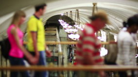 Passagerare för dagligt livMoskvatunnelbana lager videofilmer