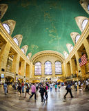 Passagerare i den Grand Central stationen, New York City Fotografering för Bildbyråer