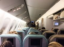 Passagerare i flygplanet Royaltyfri Bild