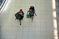 Passagerare i Suvarnabhumi Fotografering för Bildbyråer
