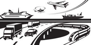 Passagerare- och lasttrans.plats vektor illustrationer