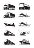 Passagerare- och lasttransport vektor illustrationer