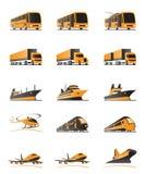 Passagerare- och lasttransport royaltyfri illustrationer