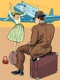 Passagerare på flygplatsen Arkivfoton