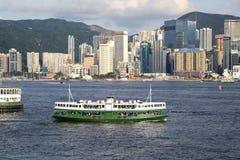 Passagerareeyeliner, Hong Kong Royaltyfri Fotografi