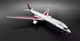 Passagerareflygplan i studio eller hangar Flygplan flygbolag Royaltyfri Fotografi