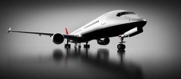 Passagerareflygplan i studio eller hangar Flygplan flygbolag Fotografering för Bildbyråer