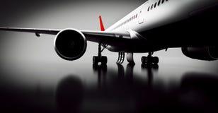Passagerareflygplan i studio eller hangar Flygplan flygbolag Royaltyfri Foto