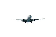 Passagerareflygplan som isoleras på vit bakgrund, med att fästa ihop PA Arkivbild