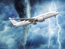 passagerareflygplan som stiger i himlen stock illustrationer