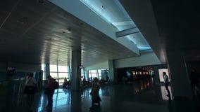 Passagerarekonturer på flygplatsen Begrepp arkivfilmer