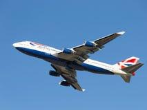 Passagerarenivå Boeing 747-436 British Airways Royaltyfri Foto