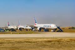 Passagerarenivåer som parkeras på flygplatsen, Chile Arkivbild
