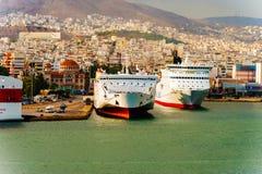 Passagerareport Piraeus, Aten Royaltyfri Foto