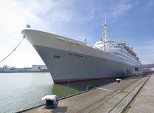 Passagerareskepp i Rotterdam Royaltyfria Foton