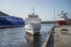 Passagerareskepp Sagasund Arkivbild