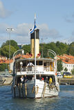 Passageraresteamer Blidösund royaltyfri fotografi